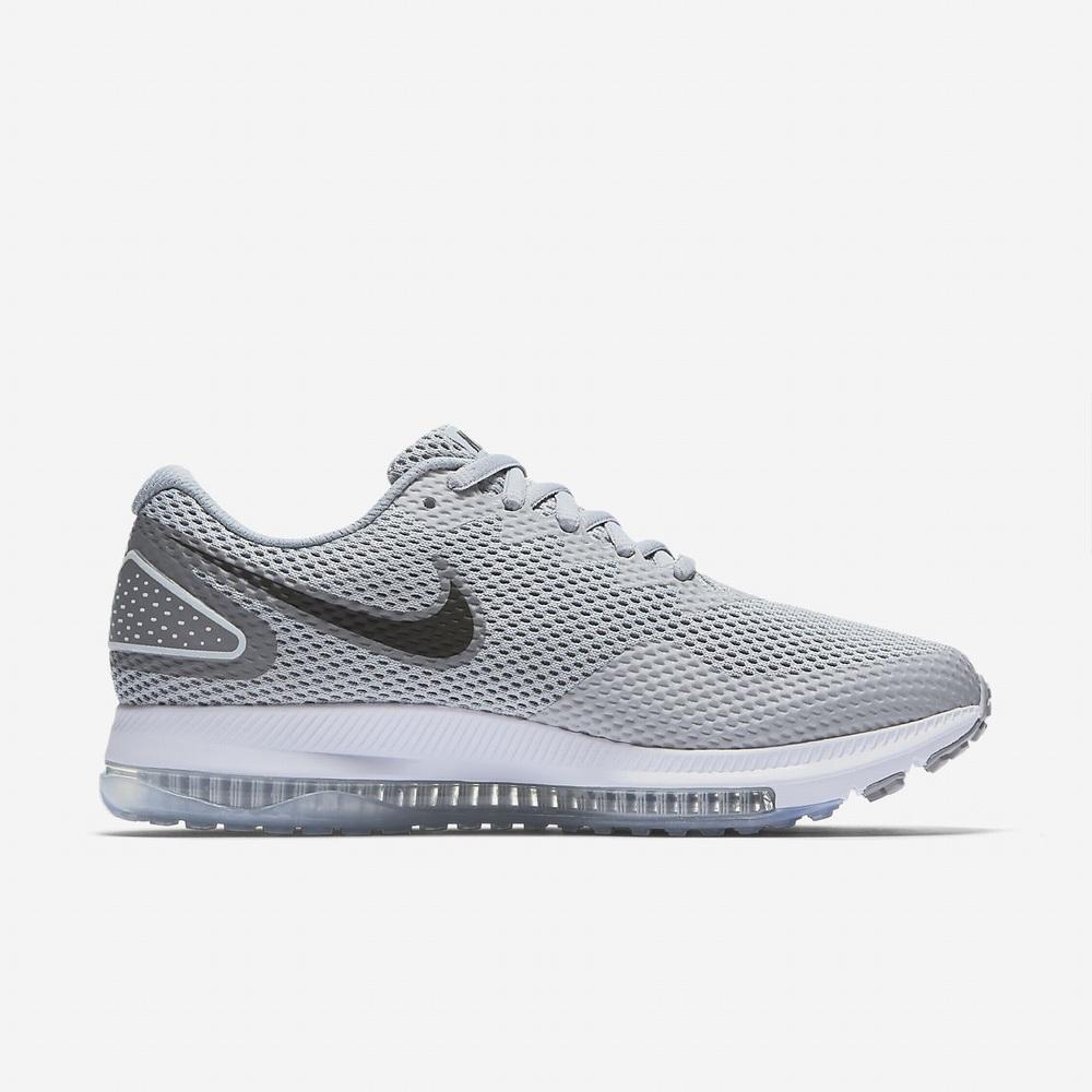 outlet store 918ef e89a7 Nike Zoom All Out Yarım 2 Koşu Ayakkabısı Bayan Gri Beyaz Siyah (un7FLmH8)